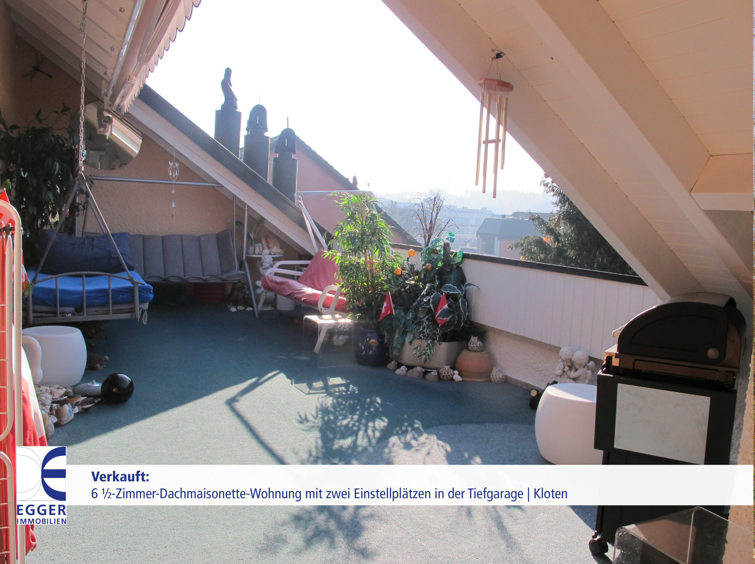 6 1/2-Zimmer-Dachmasionettewohnung mit zwei Tiefgarageneinstellplätzen in Kloten