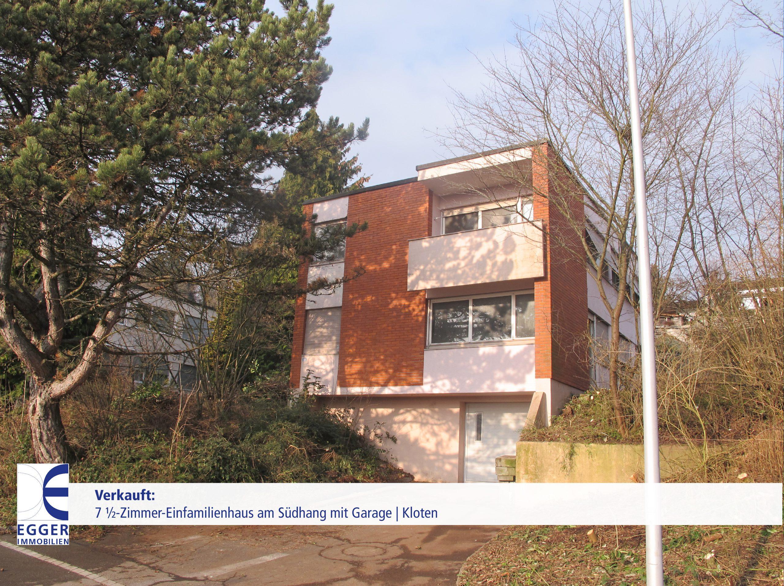 7 1/2-Zimmer-Einfamilienhaus mit Garage in Kloten