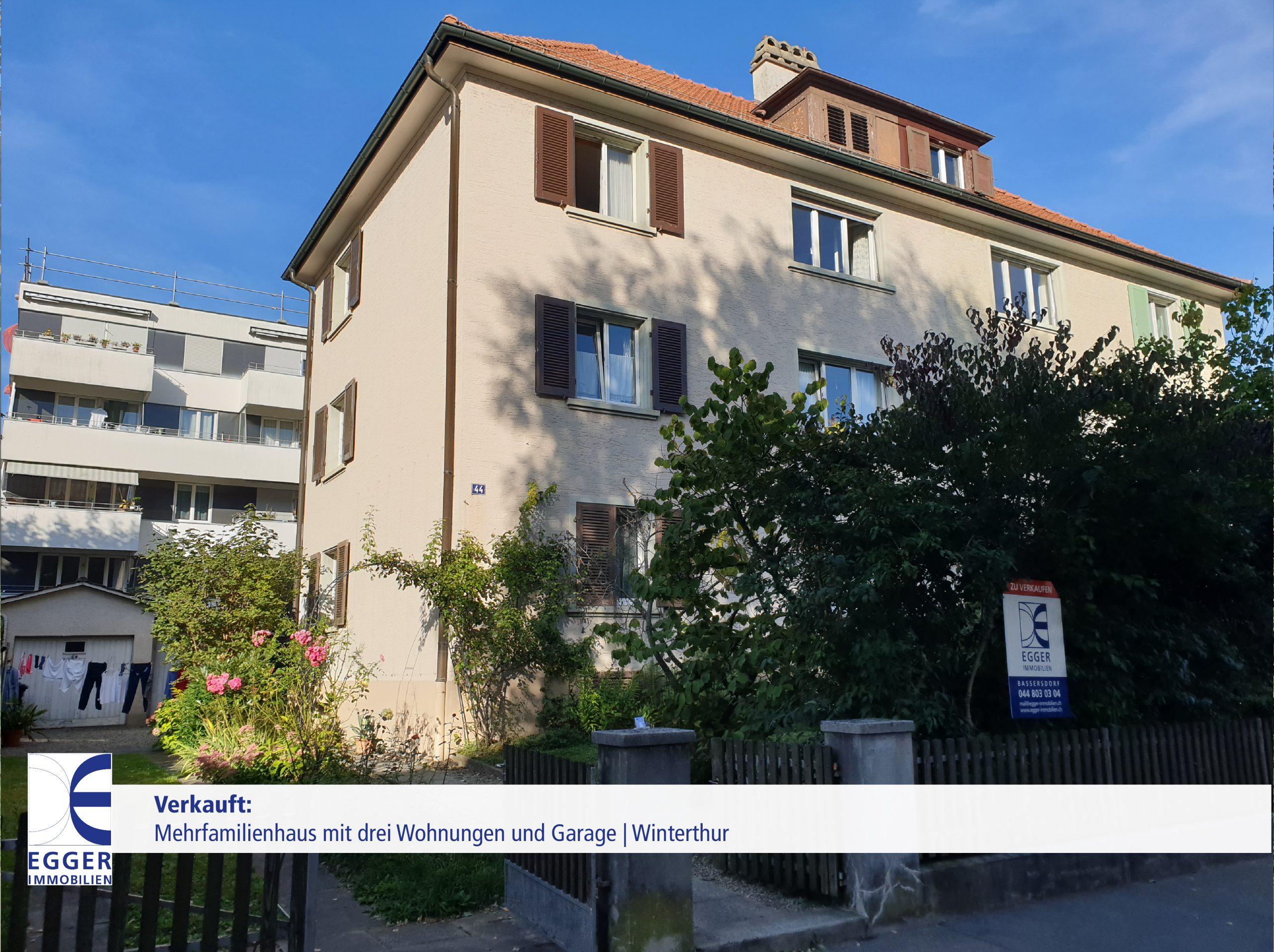 Mehrfamilienhaus mit drei Wohnungen in Winterthur