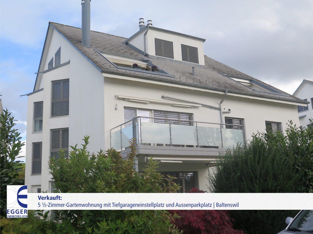 5 1/2-Zimmer-Gartenwohnung mit Tiefgarageneinstellplatz und Aussenparkplatz in Baltenswil